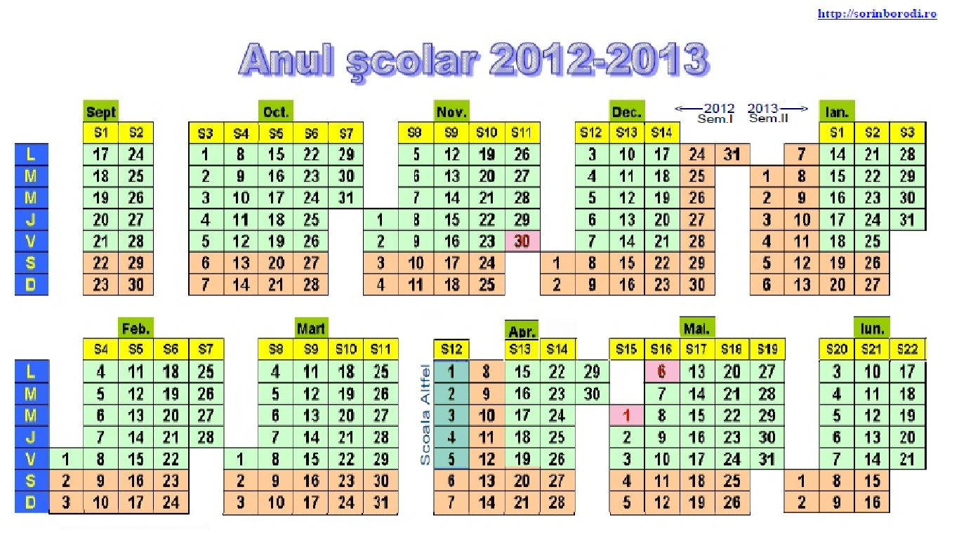 pentru calendarul anului scolar 2013 2014 click aici