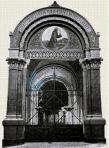 114 Intrarea spre Biserica Catolica, pe vremea cand exista poarta