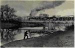 245 Podul de langa gara Dej, pe vremea cand mai circulau locomotive cu aburi