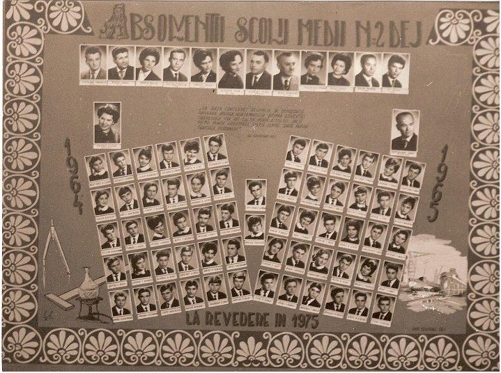 109 Dej, absolventii Scolii Medii 2 1965