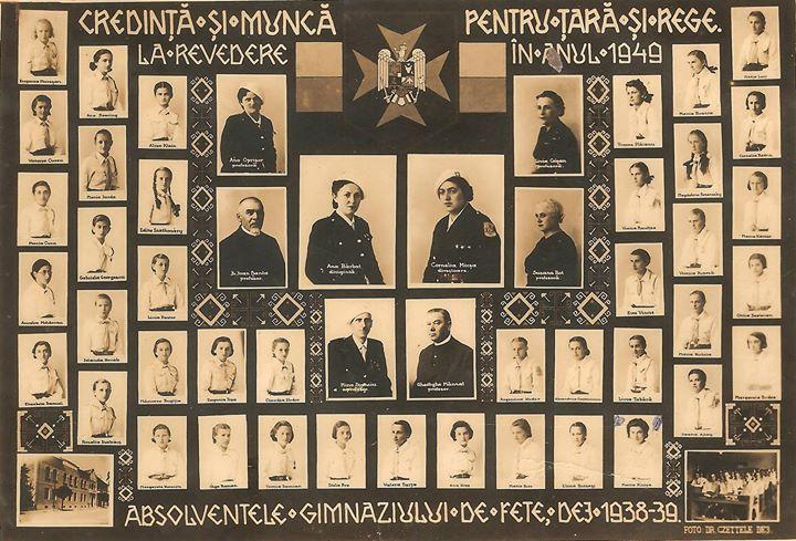114 Promotia 1938-1939 a Gimnaziului de fete din Dej