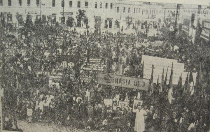 115 Dej, miting in 1958