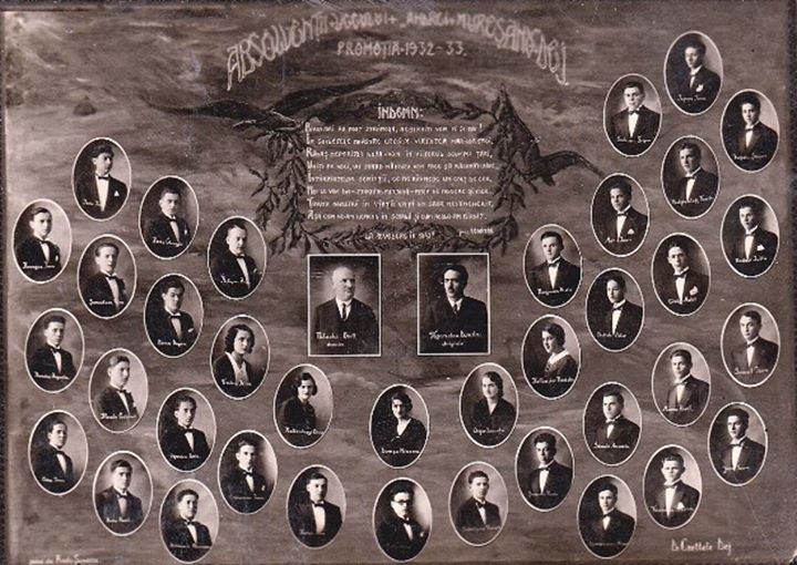 119 Dej, absolventii _Andrei Muresanu_ 1933