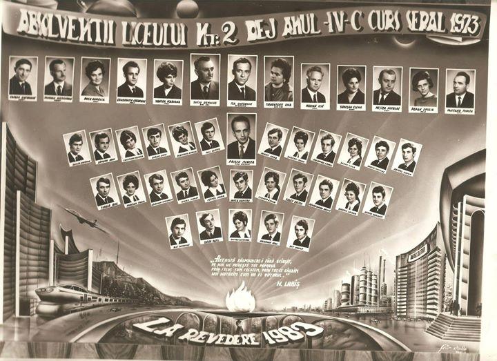 126 Dej, absoventii Liceului nr_2 IV C seral, 1973