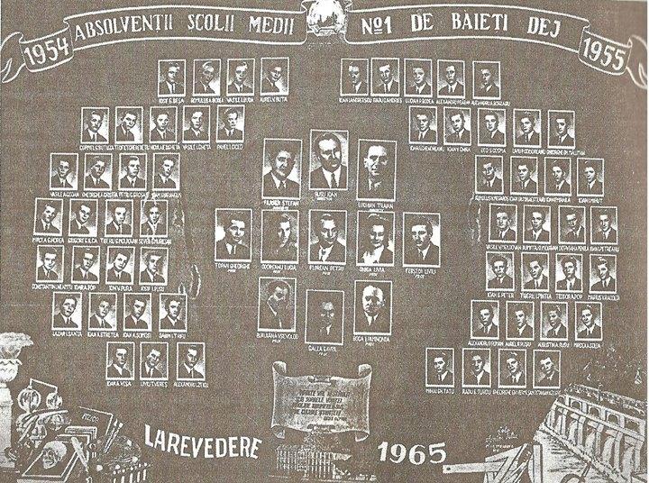 130 Dej, promotia Liceului _Andrei Muresanu _ 1955_ Atunci se numea _Scoala Medie de baieti nr_ 1