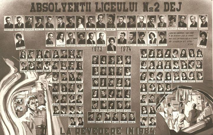 132 Dej, promotia 1974 de la Liceul nr_ 2 (actualul Papiu Ilarian)_ Puteti mari pentru a vedea numele, r
