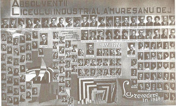 133 Dej, Liceul _Andrei Muresanu_, promotia 1978