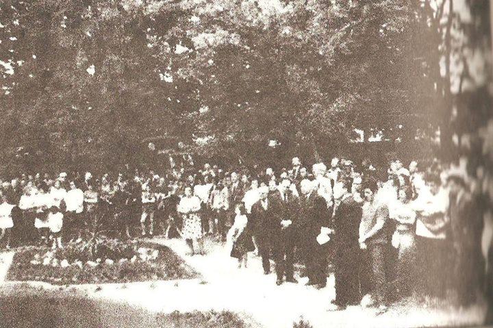 141 Dej, Parcul Mare 1971, la dezvelirea bustului compozitorului Guilelm Şorban