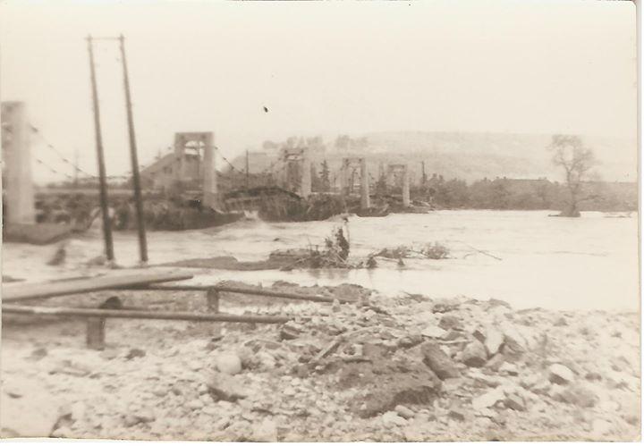15 Dej, inundatii 1970_ Puntea peste Somes