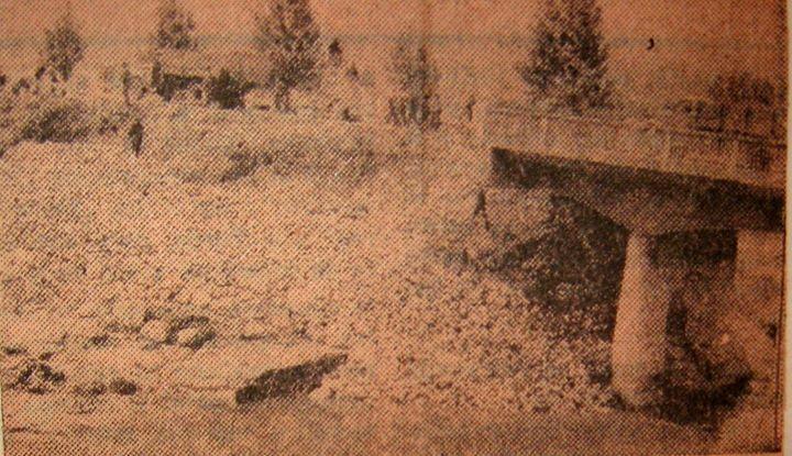 26 Dej, 1970, inundatii_ Podul de lângă PECO