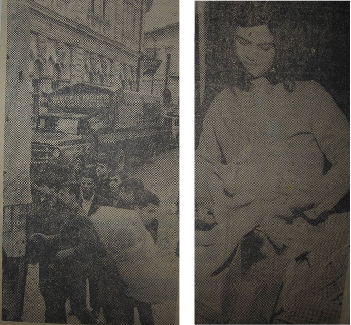 28 Stânga_ ajutoare primite la Dej în 1970_ Dreapta_ un ajutor pentru Olga Şuteu, în 1970 elevă în clas