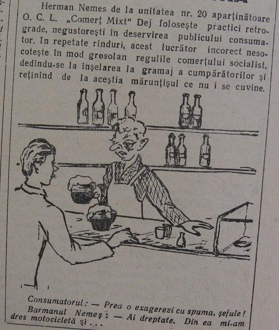 30 Dej, Ziarul local _Somesul_, 1962