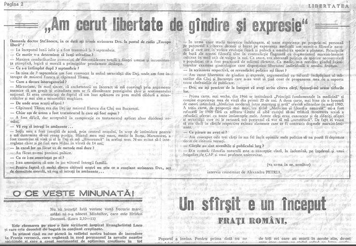 35 Primul număr din primul ziar din Dej apărut în 23 decembrie 1989 - partea III