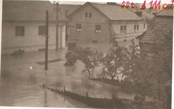 36 Dej, inundatii 1970_ Str_ 1 Mai