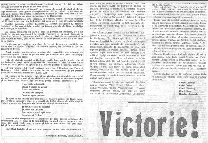 37 Primul număr din primul ziar din Dej apărut în 23 decembrie 1989 - partea IV