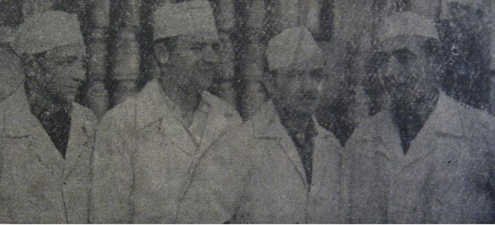 41 Angajaţi la ICIL Dej (lapte) în 1962_ Irimie Cherecheş, Vasile Moiş, Alexandru Mars, Teodor Todea