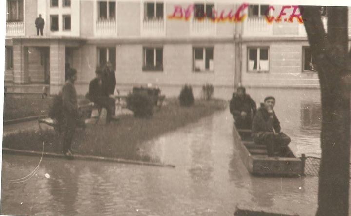 43 Dej, inundatii 1970_ Blocul CFR