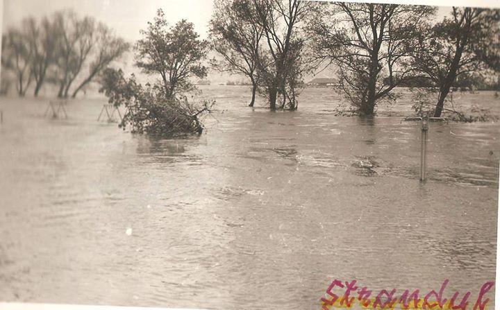 45 Dej, inundatii 1970, zona strandului