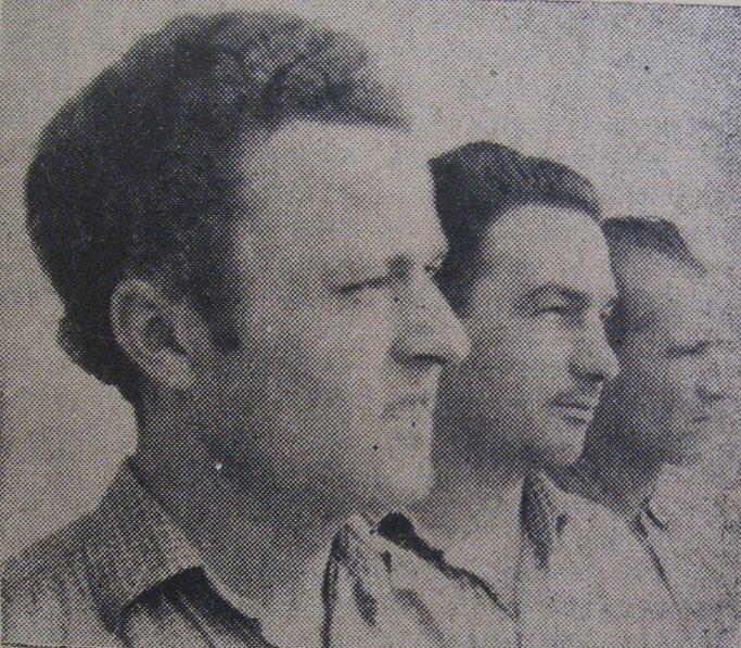 "51 Dej, 1962_ Angajaţi ""Trasia""_ Cornel Cordea, Francisc Marton, Grigore Rotaru"