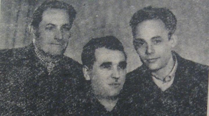52 Angajaţi la Panificaţie Dej, 1963_ Augustin Băieş, Zoltan Pop, Martin Kerekes