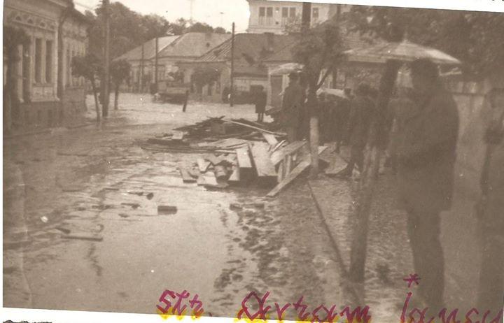 56 Dej, inundatii 1970_ Str_ Avram Iancu