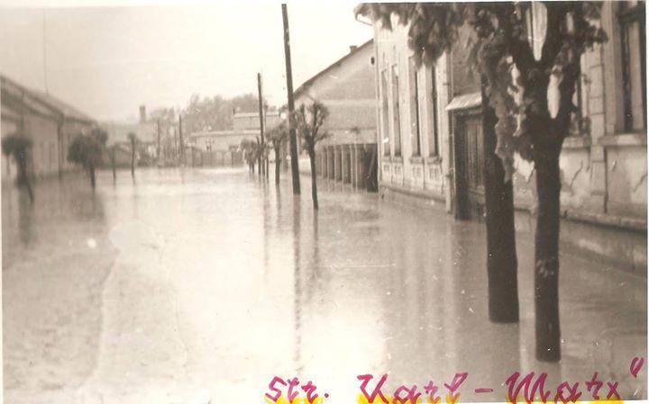 57 Dej, inundatii 1970_ Str_ Karl Marx