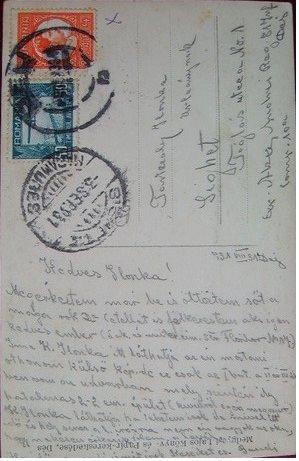 58 Verso al  ilustratei cu garnizoana Dej in 1931