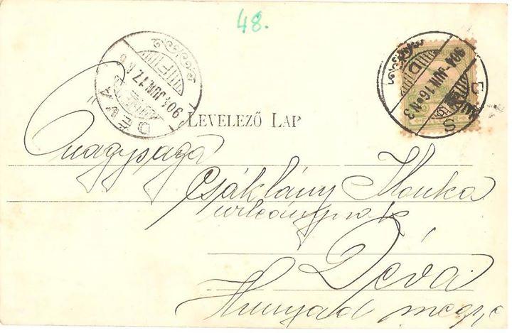 62 Dej, verso la c_p_ din 1904