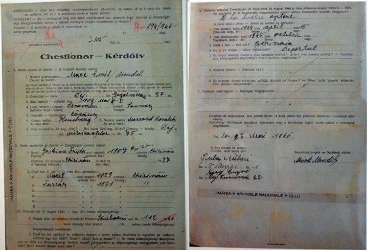 68 Dej 1944_ Documente intocmite in timpul deportarii evreilor_ De la Arhivele Nationale