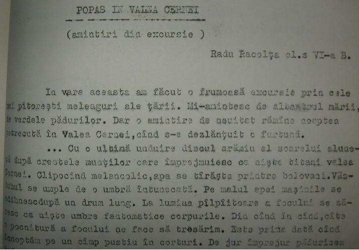 75 Dej, din revista _Rasunetul_ a Liceului _Andrei Muresanu_ , 1969