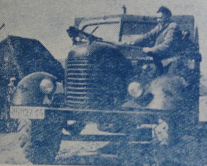 81 Dej, soferul Vasile Bocica, 1962