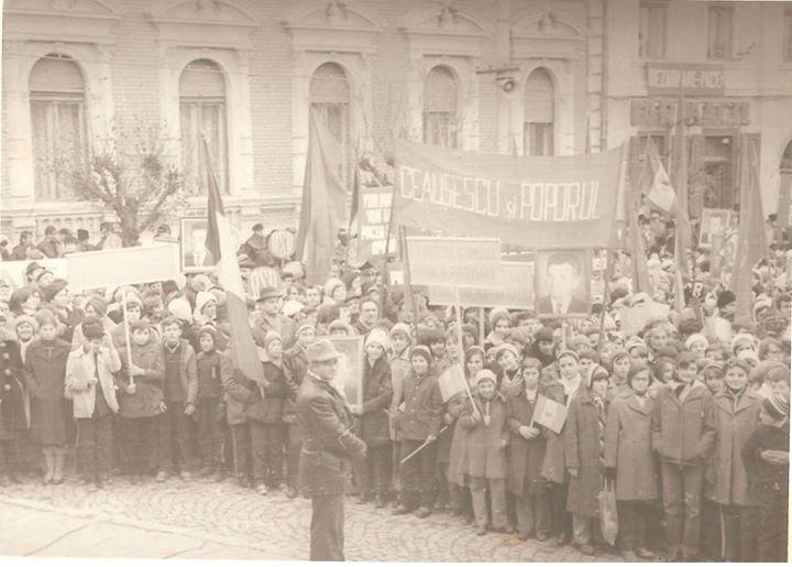 96 Dej, 1978_ Demonstratie pentru pace