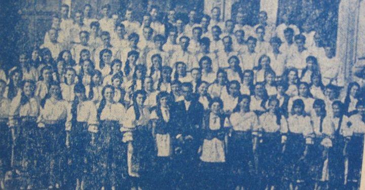 98 Corul Căminului cultural din Ocna Dejului, 1962_ Dirijor prof_ Teodor Sechei